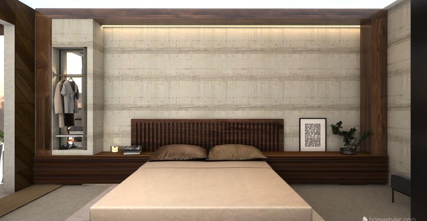 Courtyard Zen House Interior Design Render