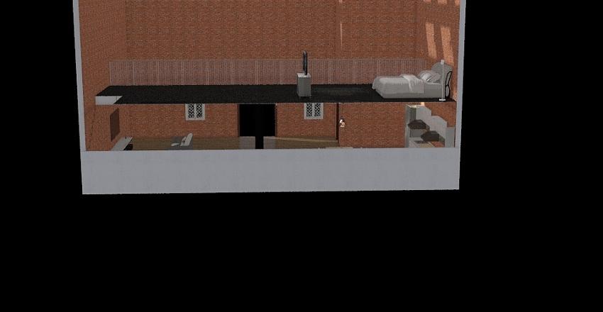 loftový byt Interior Design Render