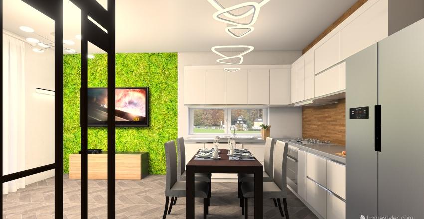 дом для молодой семьи в2 Interior Design Render