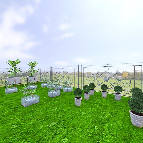 green roof  Interior Design Render