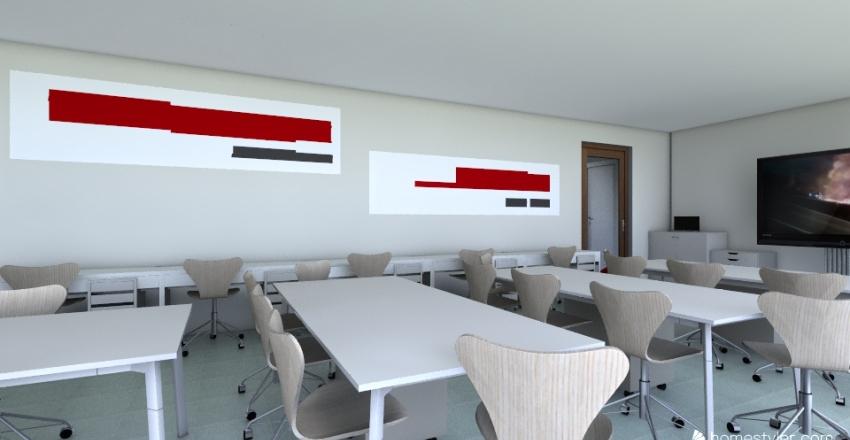 Tochka_rosta_GYM_wite Interior Design Render