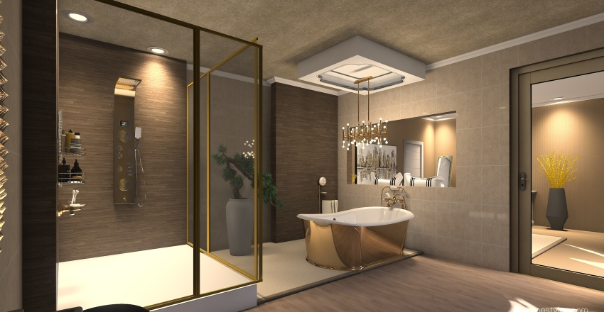 A family home  Interior Design Render