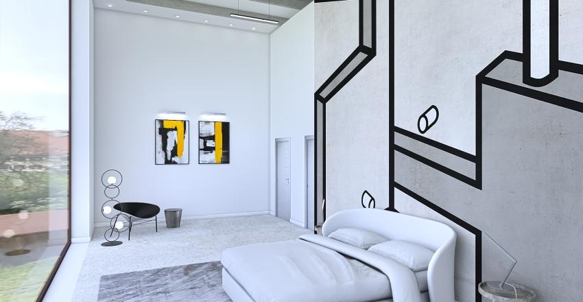 Ex fabbricato industriale Interior Design Render