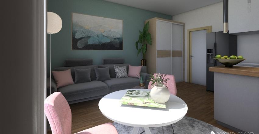 Justyna pokój01 Interior Design Render