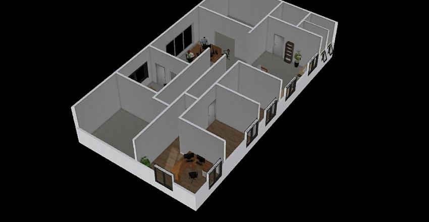 Office Upstairs Interior Design Render
