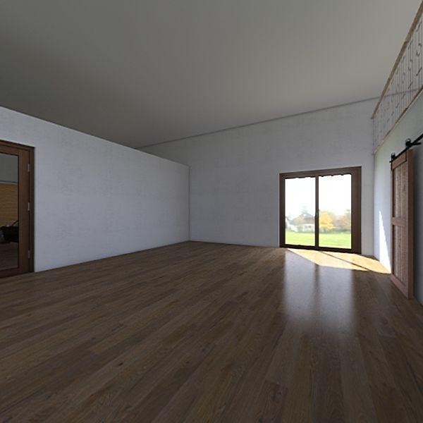 Barn House Interior Design Render