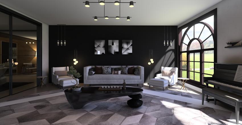 Black House Interior Design Render