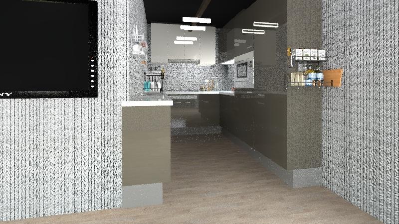 A medium modern home Interior Design Render