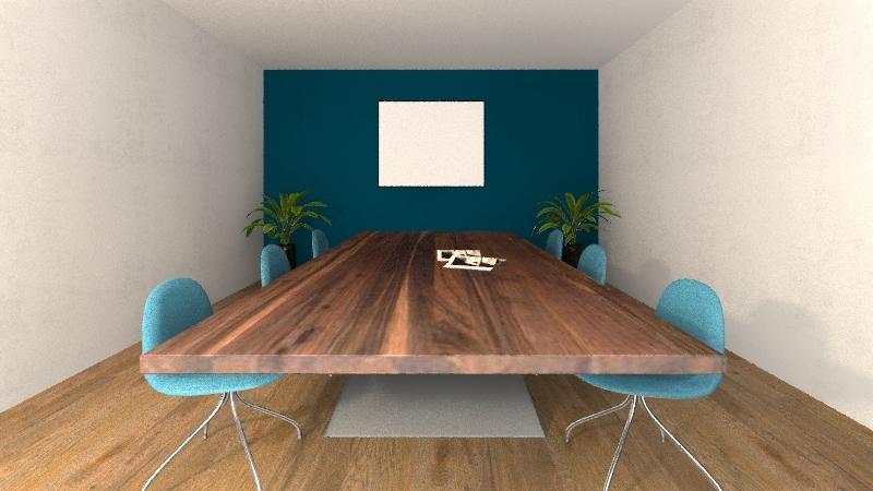 مكتب Interior Design Render