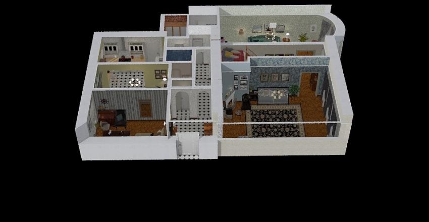 Finish version of the flat 3 - 3 arch Interior Design Render