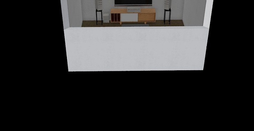 Theater corner Interior Design Render