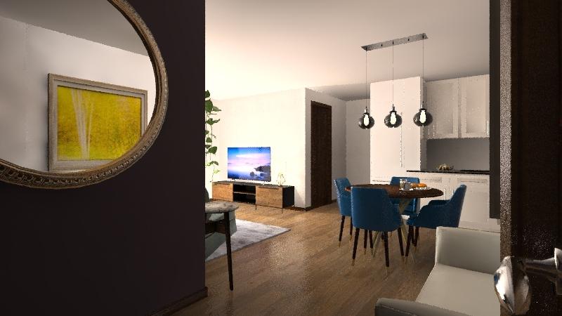 Penthouse Barcelona Interior Design Render