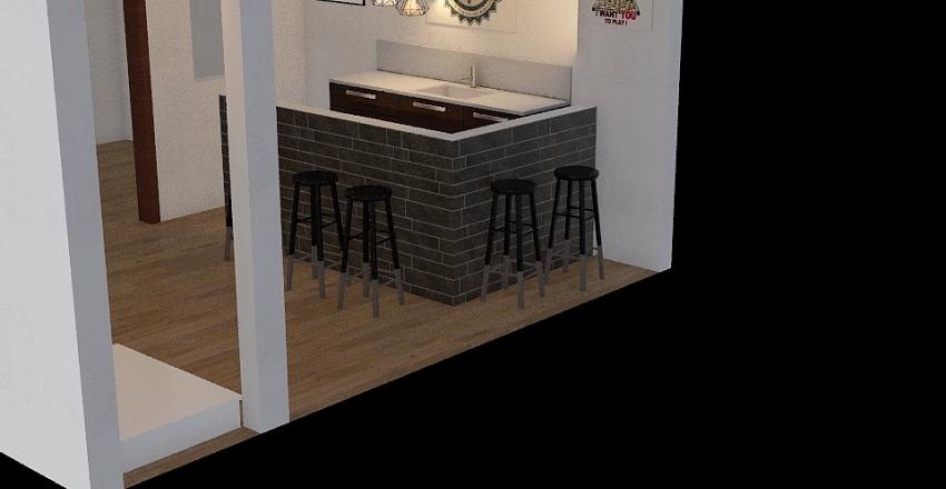 fundo da casa Interior Design Render