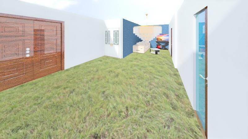hut Interior Design Render