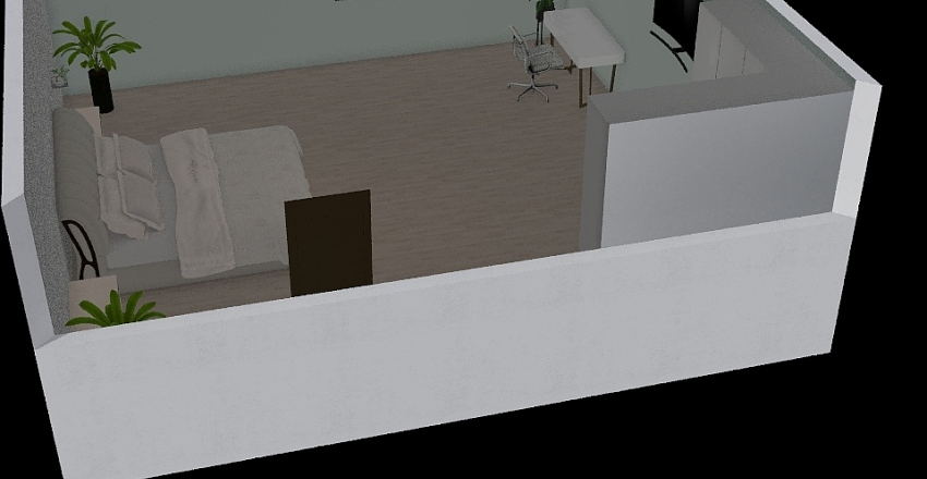 Sierra´s bedroom Interior Design Render