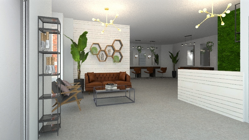 Big Salon  Interior Design Render