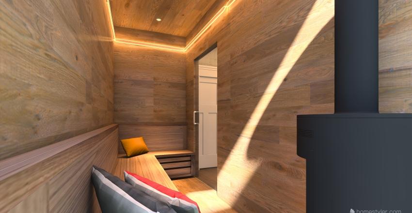 GYM-SAUNA Interior Design Render