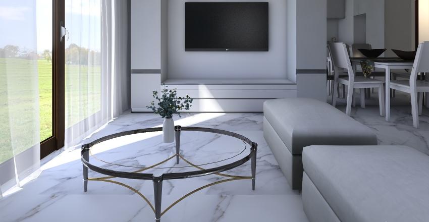 Mieszkanie 51m2 - nowa kuchnia - nowa sypialnia Interior Design Render