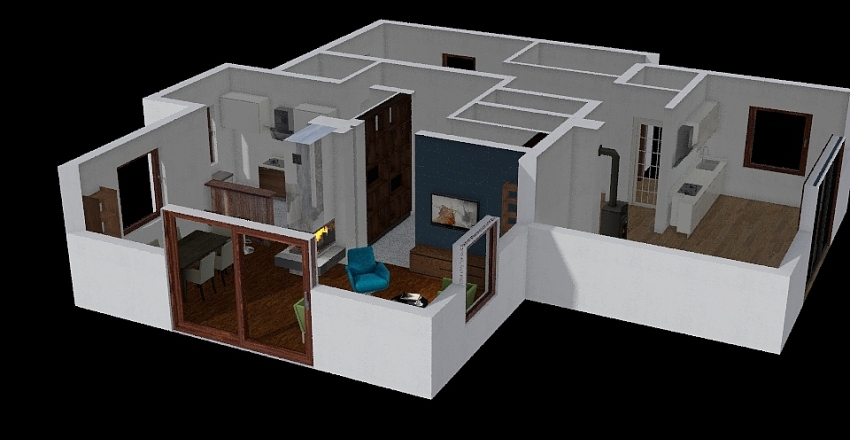 Morawczyna parter Interior Design Render