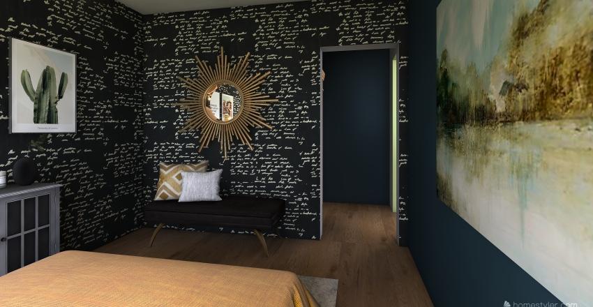 Modern Boho Botanical  Interior Design Render
