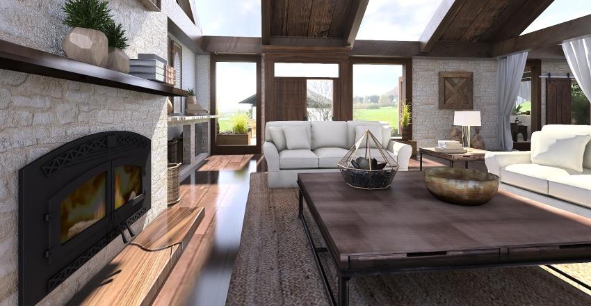 Casa de vacaciones en la montaña Interior Design Render