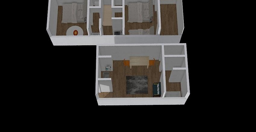 スマイルステイ新中野 Interior Design Render