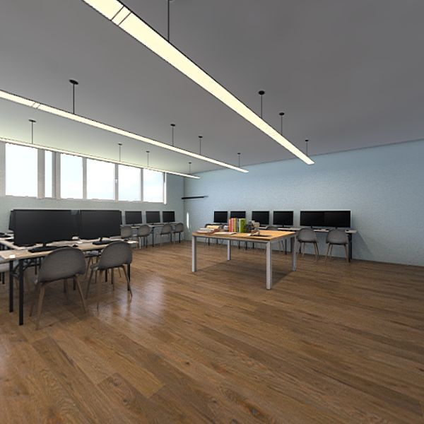media lab Interior Design Render