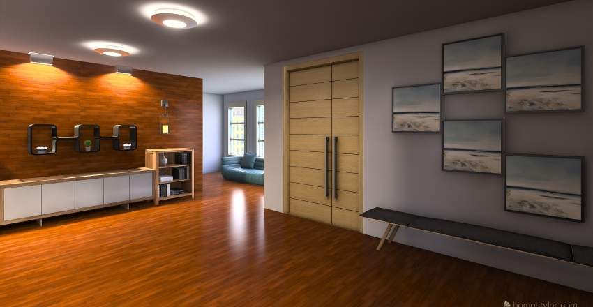 Violet Rooms Interior Design Render