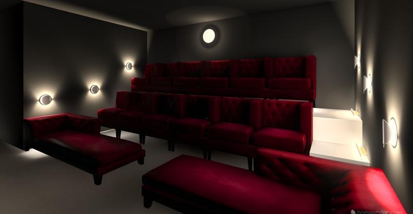 Home Cinema Interior Design Render
