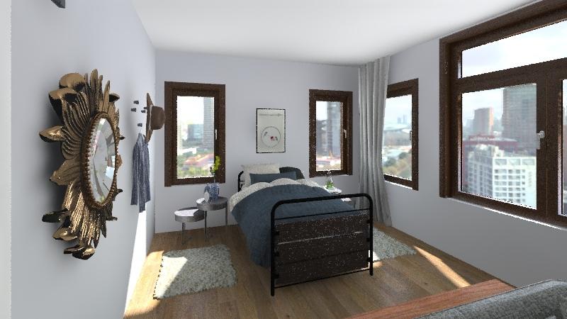 Blue apt Interior Design Render