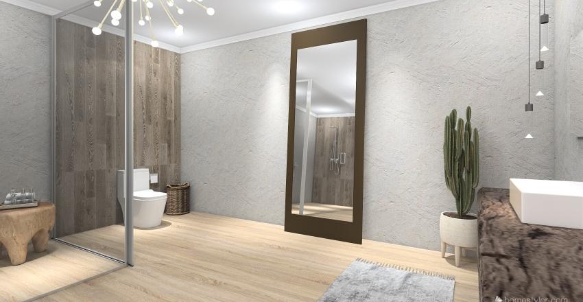 banheiro rústico Interior Design Render