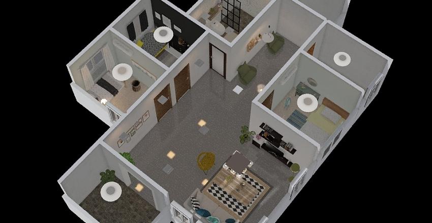 บ้านน้องเดียร์ Interior Design Render