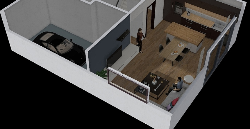 obývák Interior Design Render