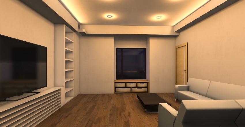 狀況2-主臥封下右(門不變,床上下換位) Interior Design Render