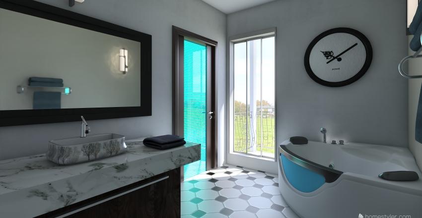 bagno con vasca Interior Design Render