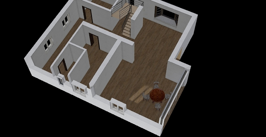первый этаж Interior Design Render