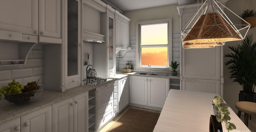 Hermosa casa en la playa o apartamento en la ciudad Interior Design Render