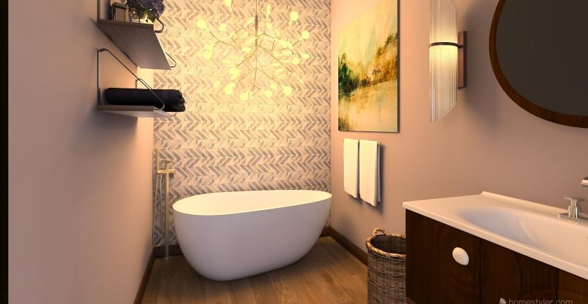 Botanical City Chic Interior Design Render
