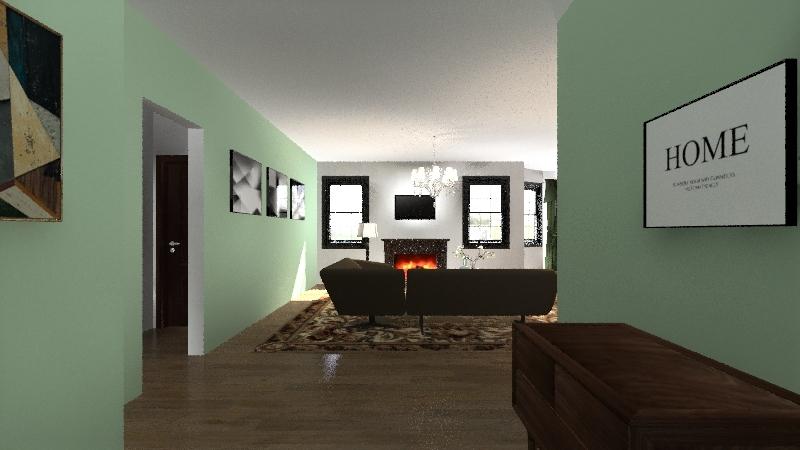 space planning project  Interior Design Render