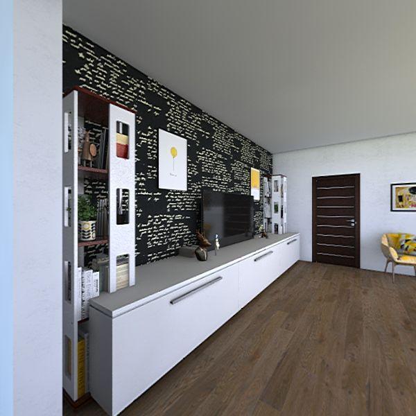 Family modern house Interior Design Render