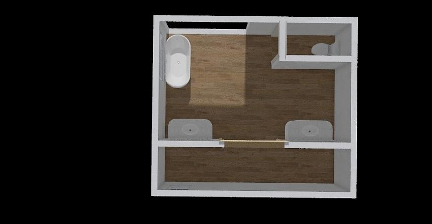 Sample Bathroom Interior Design Render