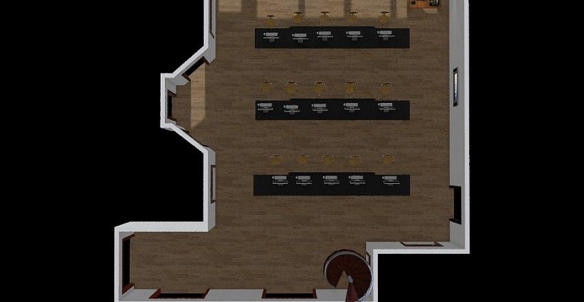 Classroom Layout Interior Design Render
