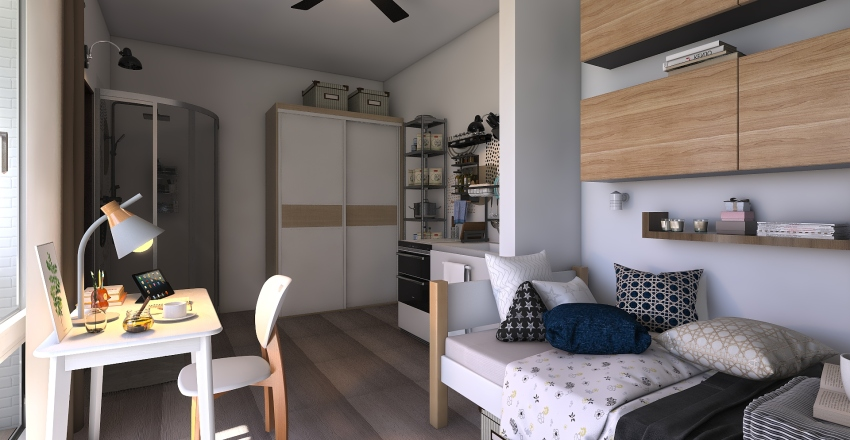 home staging di mini appartamento  Interior Design Render