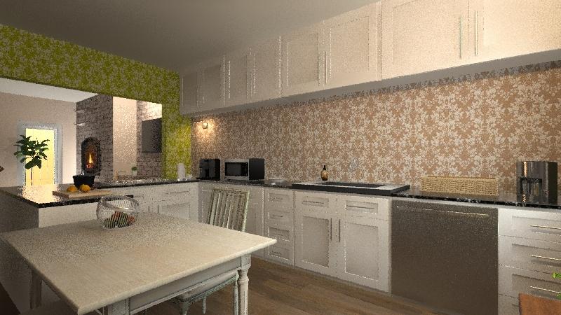 Villetta in campagna Interior Design Render