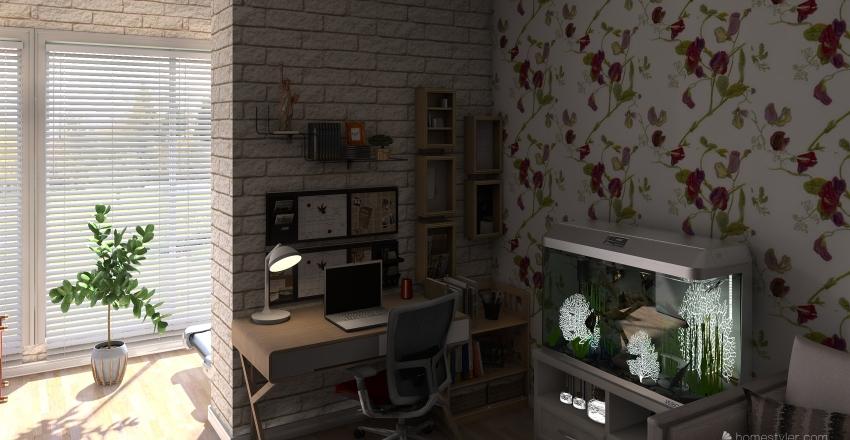 План квартиры № 1 Панорама Interior Design Render