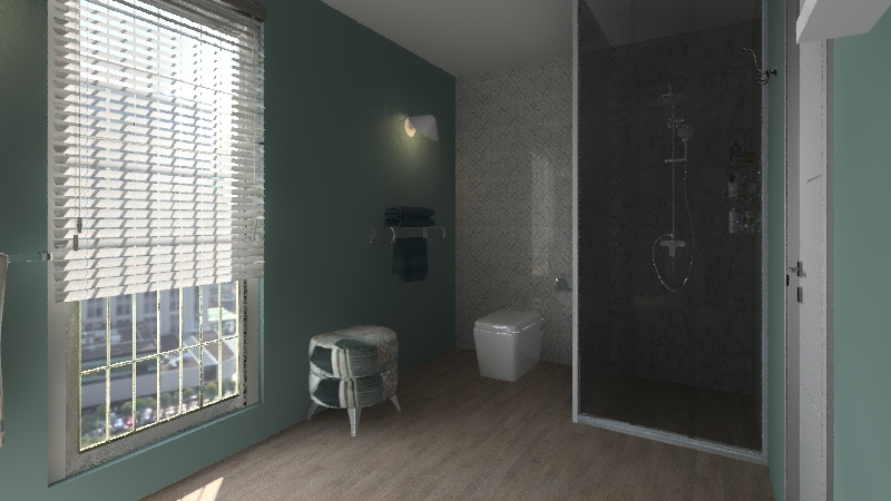 "70mt"" comtemporanea. 1 cam  Interior Design Render"