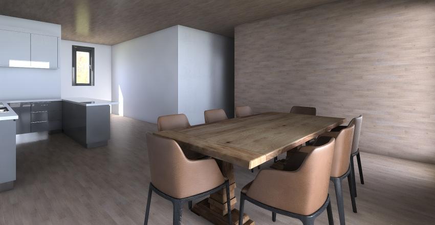 paulownia hause Interior Design Render