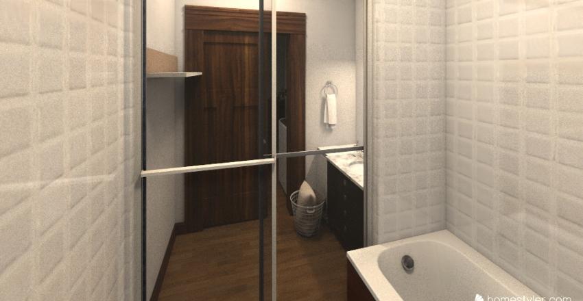 1LDK Interior Design Render