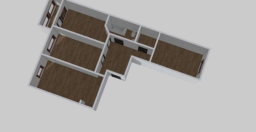 3-комн_0346 Interior Design Render