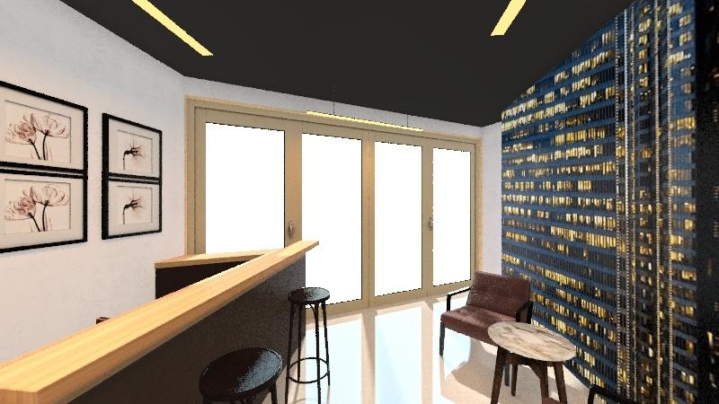 Барбершоп Interior Design Render